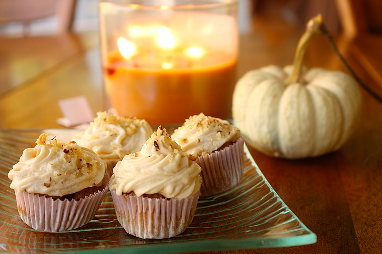 Recipe: Gluten-Free Pumpkin Chai Cupcakes – Teacups and Things