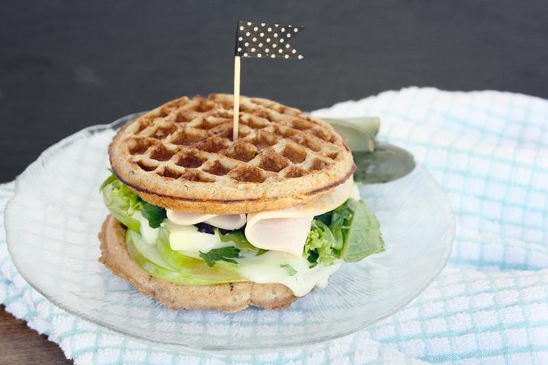 National Waffle Day: Turkey Waffle Sandwich