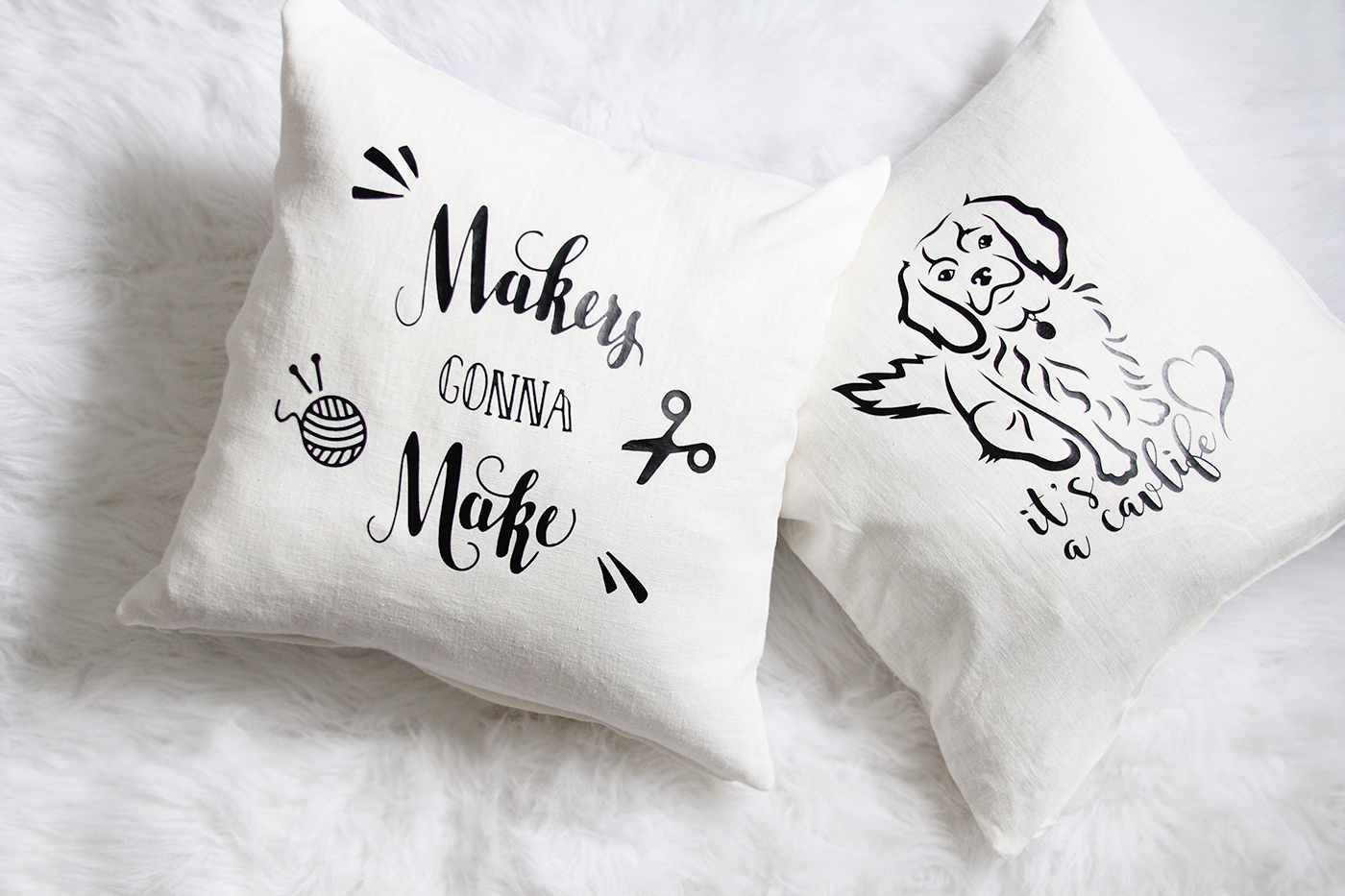 DIY Pillows with the Cricut Explore Air - National Craft Day