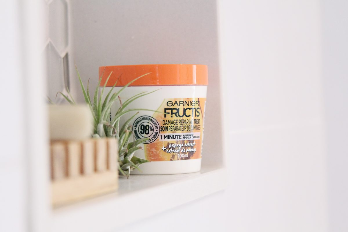 Repair damaged hair with Fructis 3-in-1 treatment