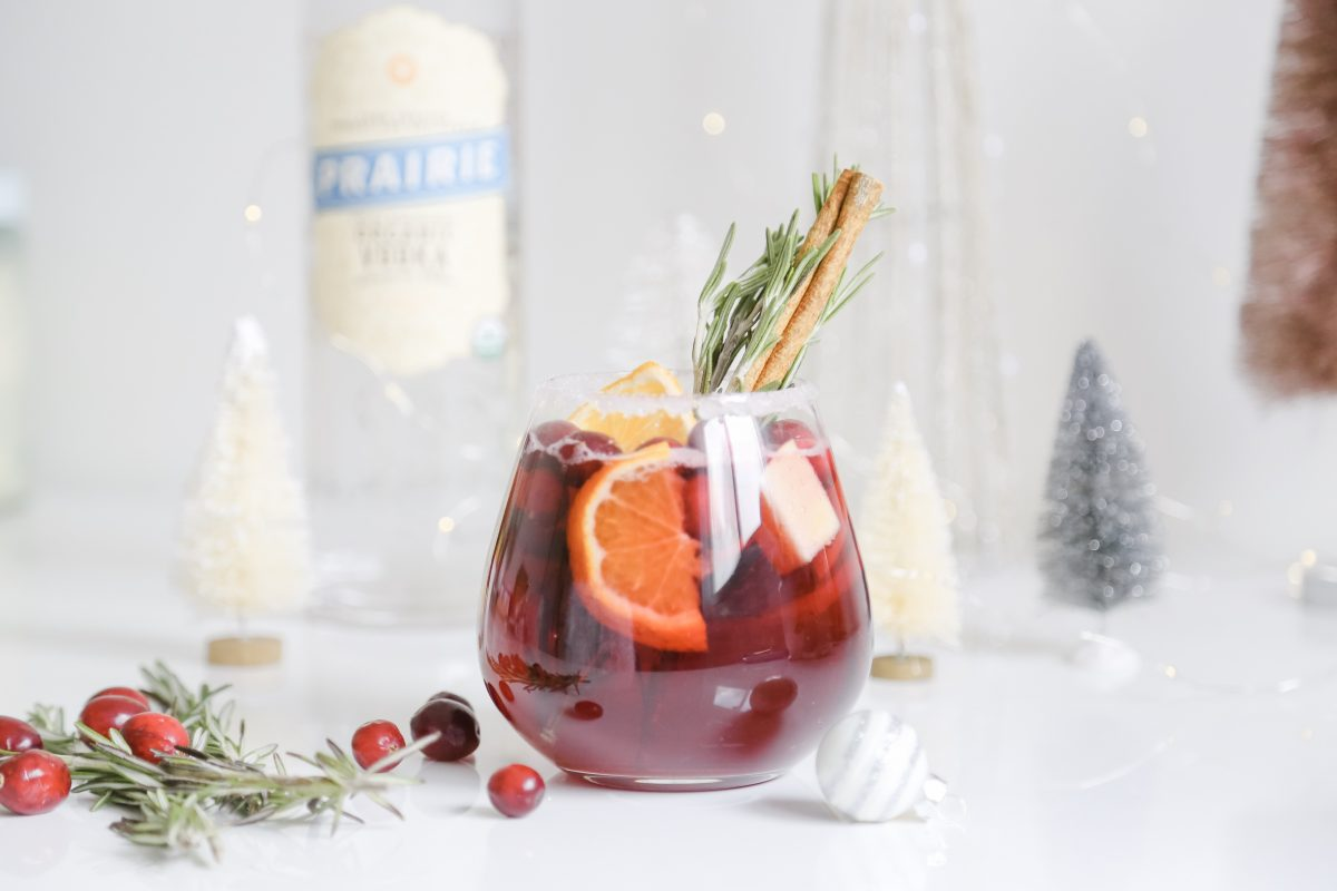 Christmas Cranberry Sangria