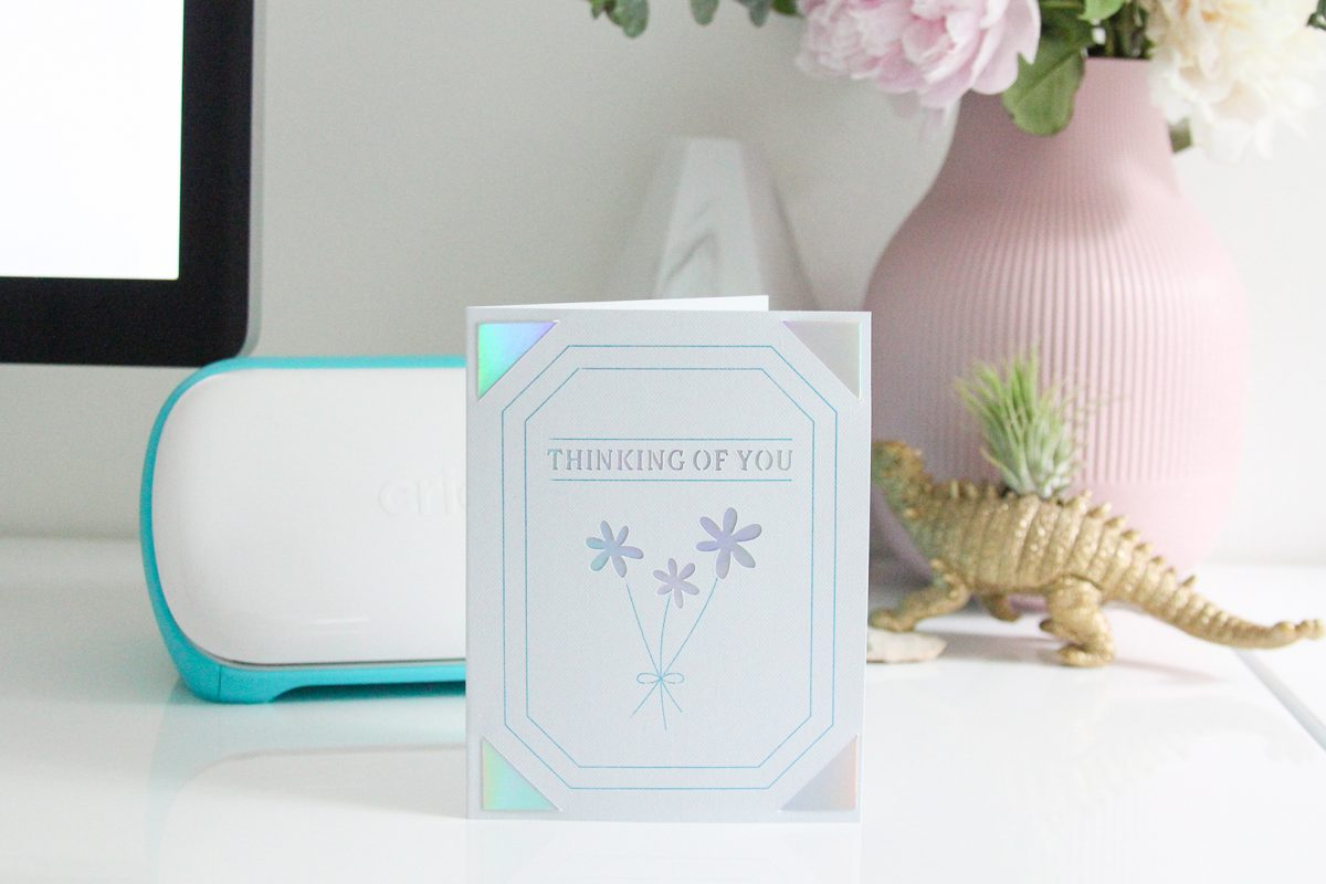 How to create cards for any occasion with your Cricut Joy and the transfer foil system